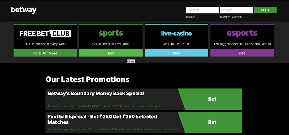 betway promotions india