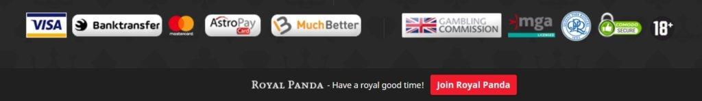 Royal Panda Betting Sites India Paymethods