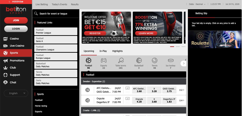 Betiton homepage