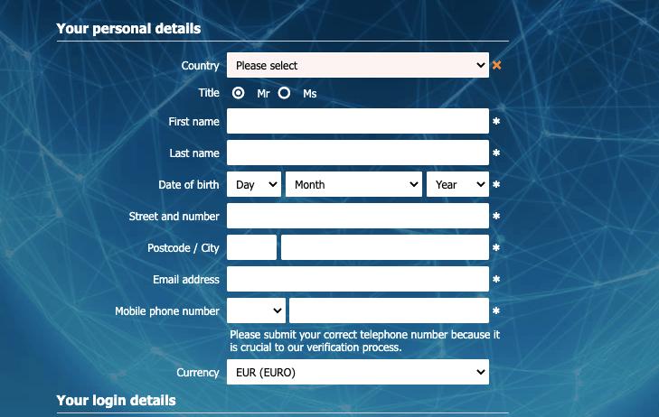 Betworld Register