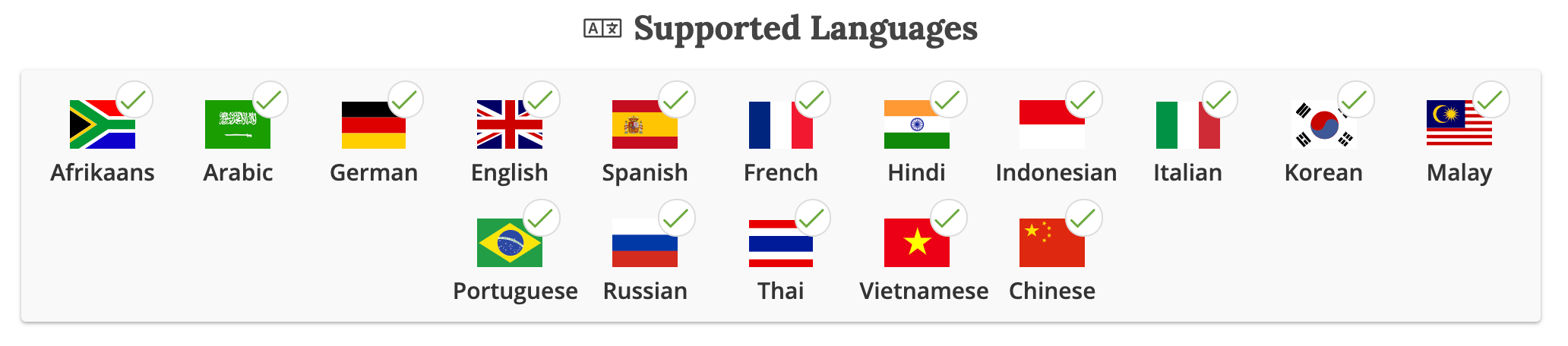 iq option supported language