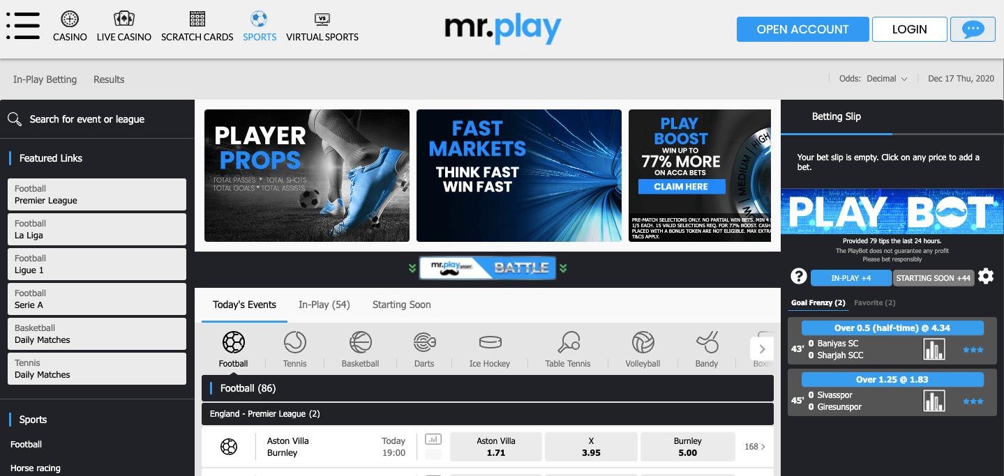 Mr. Play Homepage