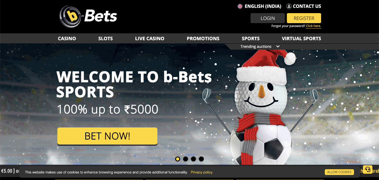 b-Bets Homepage