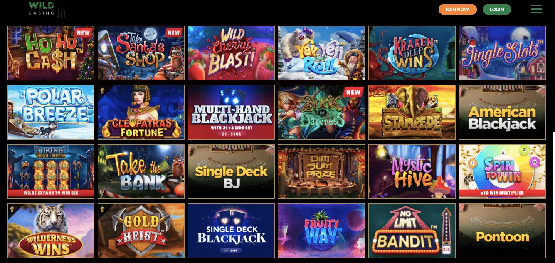 wild casino slot