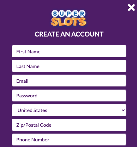 Super Slots Register