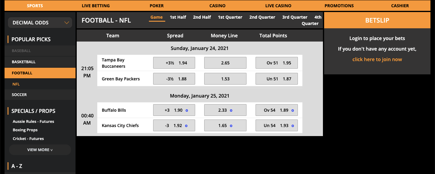 TigerGaming Betting
