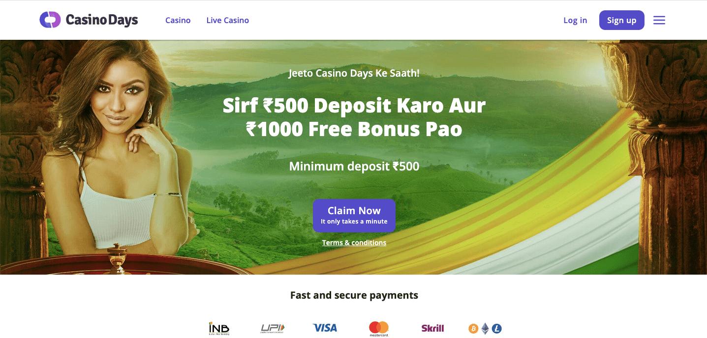 Casino Days Homepage