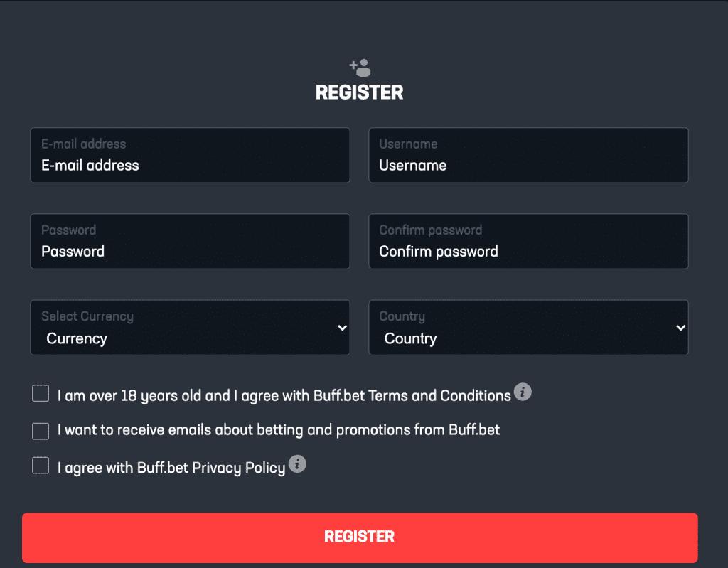 Buff.bet Register