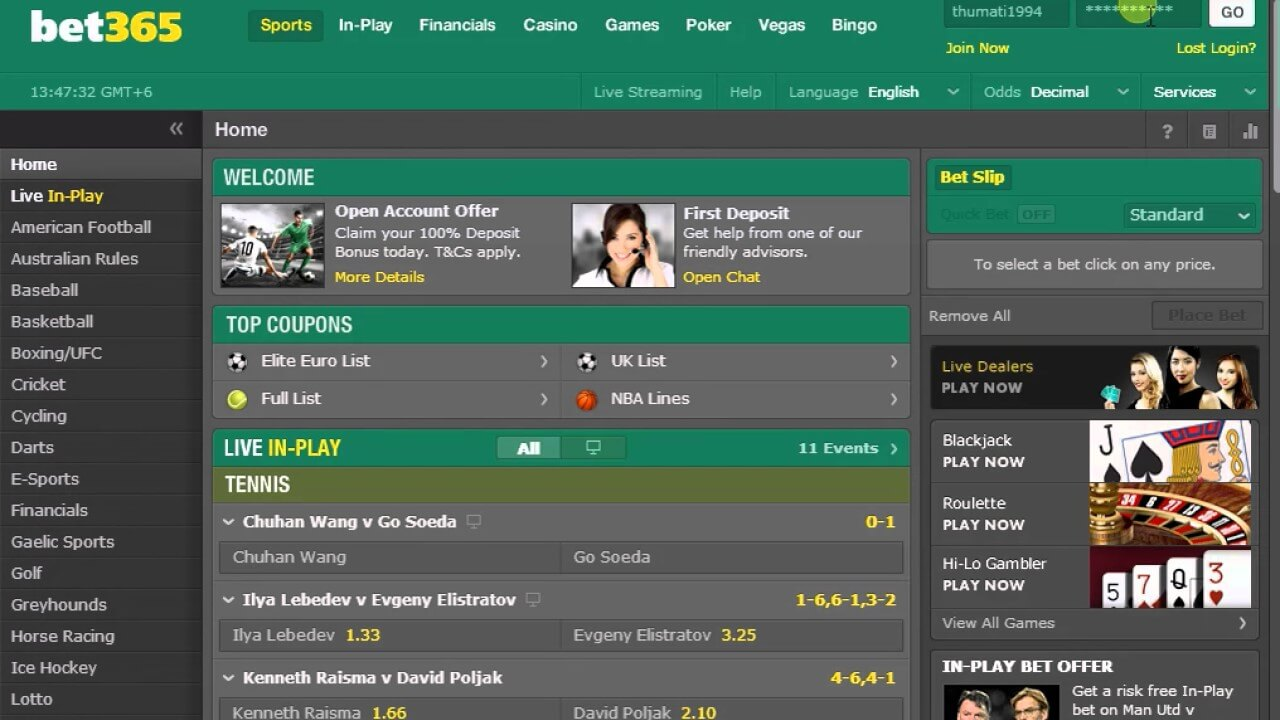how to create a Bet365 account